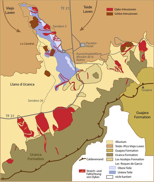 geologische zeitskala tiefe