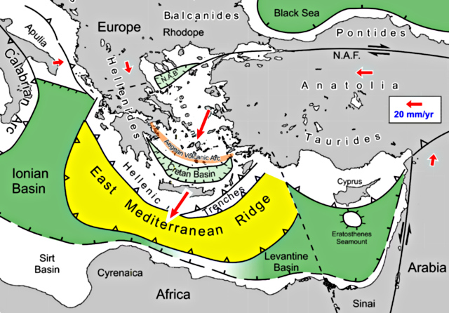 Plattentektonik Mittelmeer